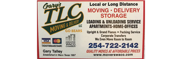 About Us | Gary's TLC Moving & Delivery - Waco, TX